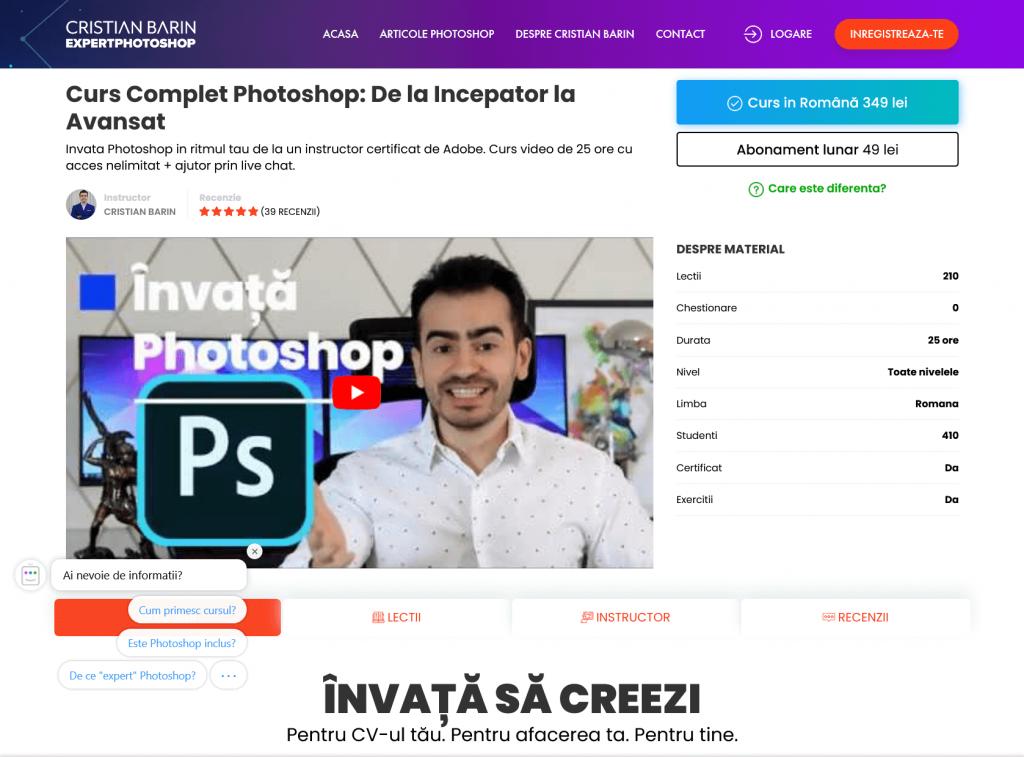 Curs Photoshop Live Chat